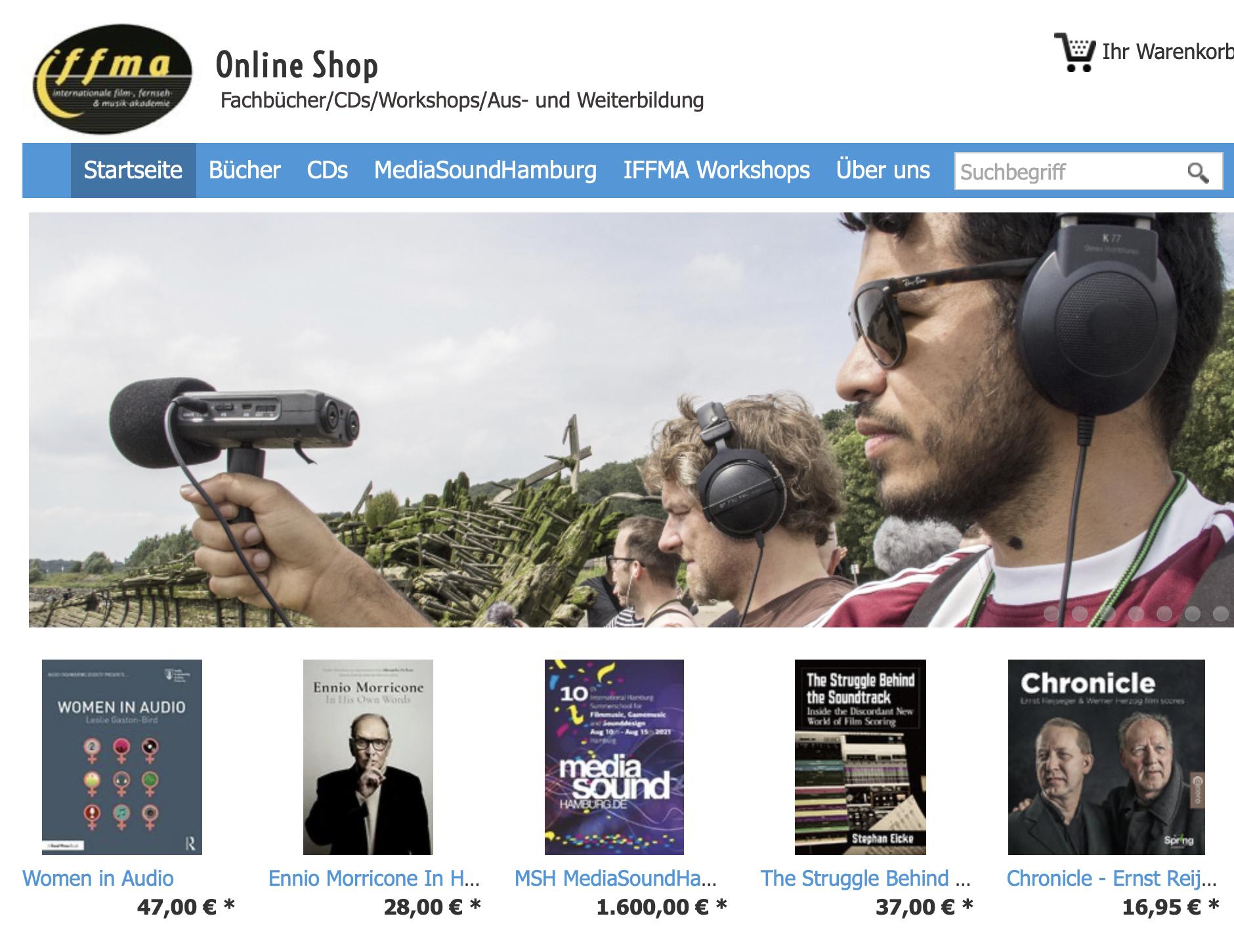 IFFMA Online Shop für Fachbücher, CDs, Workshops, Aus- und Weiterbildung